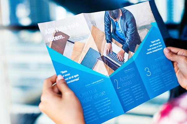 A printed company brochure