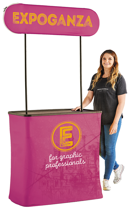 Booth Textile Pop Up Kiosk