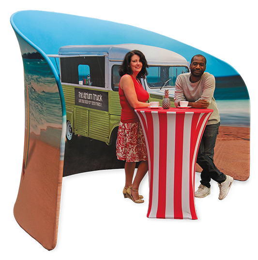 Embrace U-Shaped Textile Meeting Booth