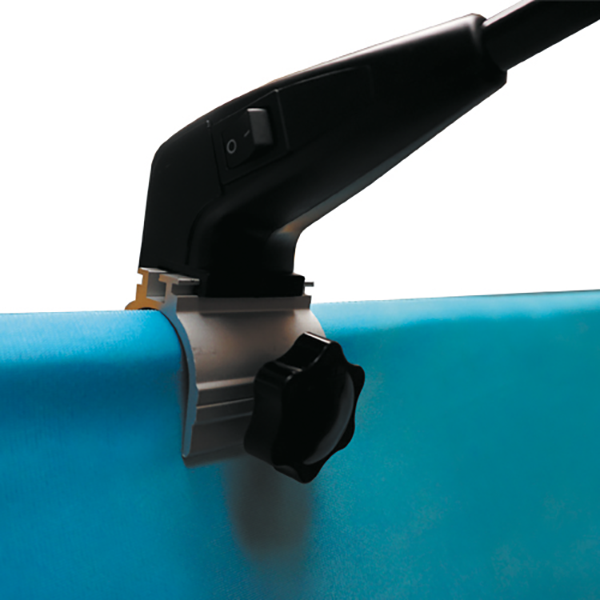 LED Light Kit bracket detail for Textile Stands