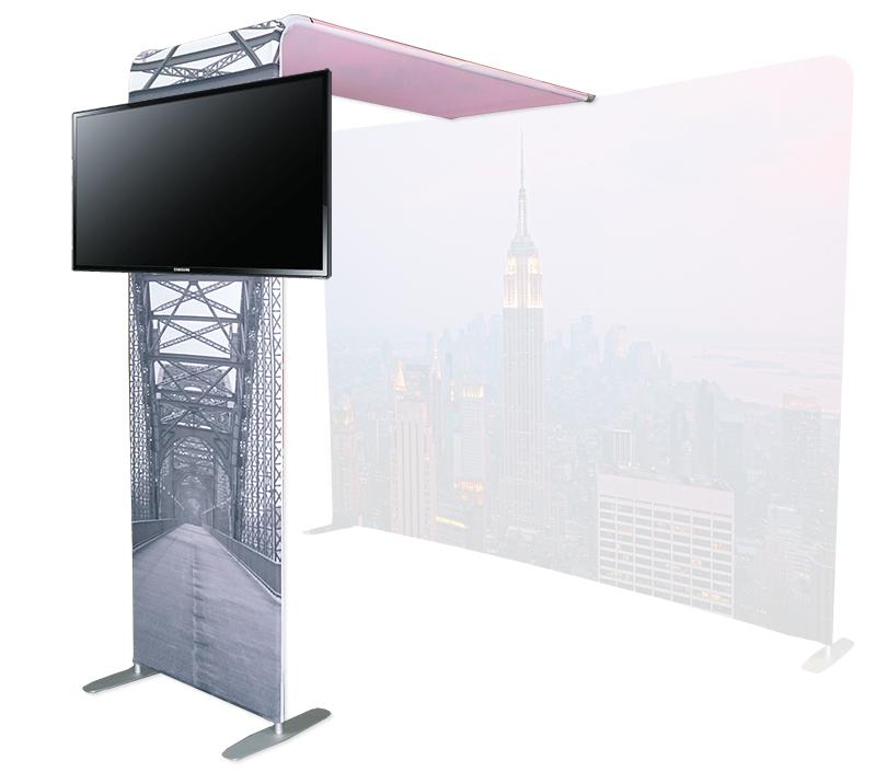 Rialto Bridge Textile Stand with TV